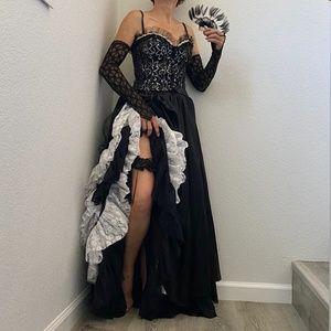 6-Piece Custom Made Saloon Girl Halloween Costume